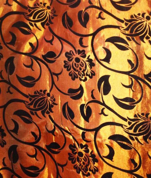 pure-silk-bedding-gold-flower-print-2