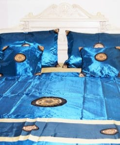 Royal Blue Pure Silk Bedding Sheet Sets